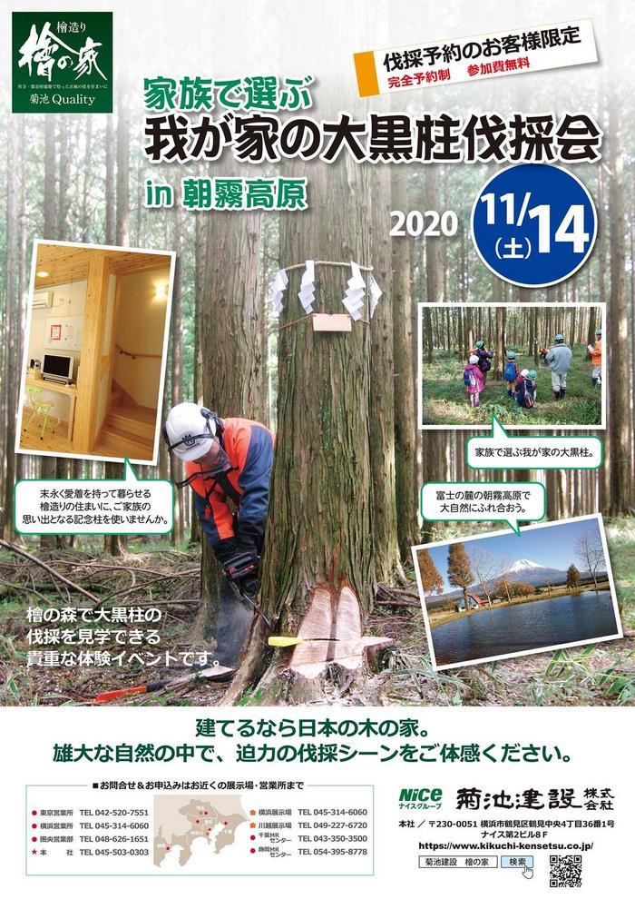 【2020・11/14】我が家の大黒柱伐採会