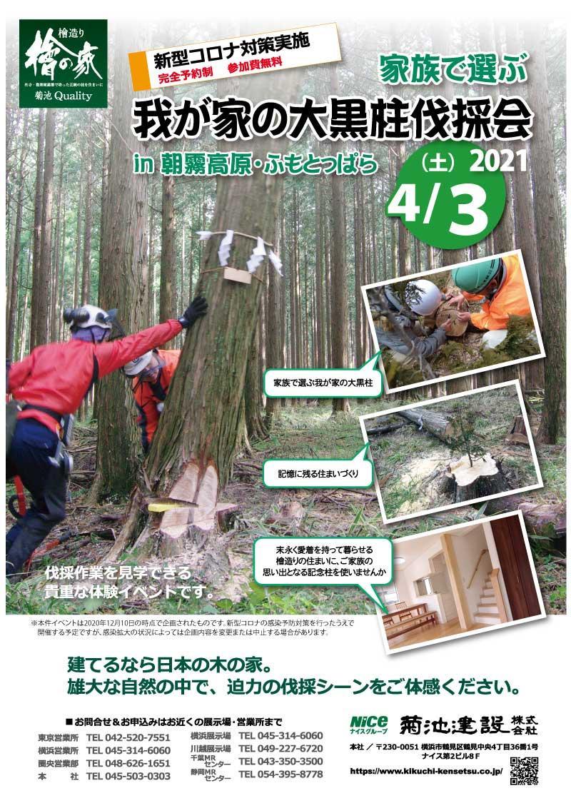 【2021・4/3】我が家の大黒柱伐採会 開催